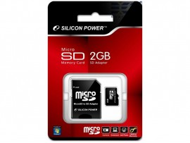 Карта пам'яті Silicon Power Micro SDHC 2ГБ (SP002GBSDT000V10-SP) + адаптер