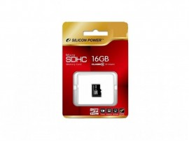 Карта пам'яті Silicon Power Micro SDHC 16ГБ (SP016GBSTH010V10)
