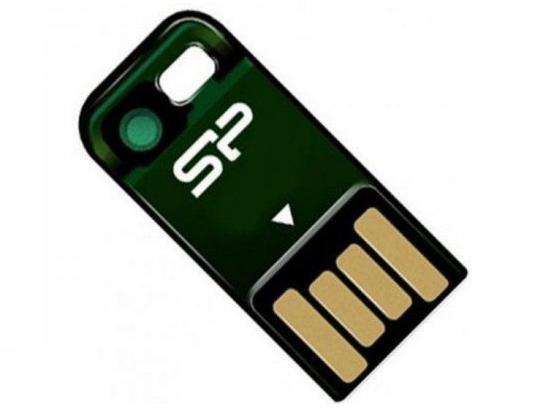 Флешка USB Silicon Power Touch T02 4 ГБ (SP004GBUF2T02V1N) зелена