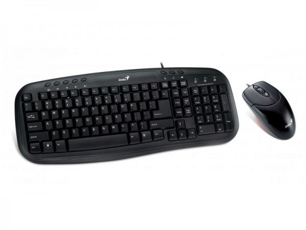 Комплект клавіатура+мишка Genius KM-200 USB чорна